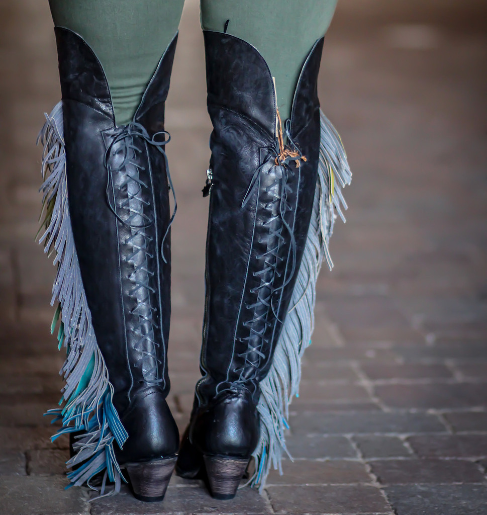 Junk Gypsy by Lane Spirit Animal Black Boots JG0022B Lace