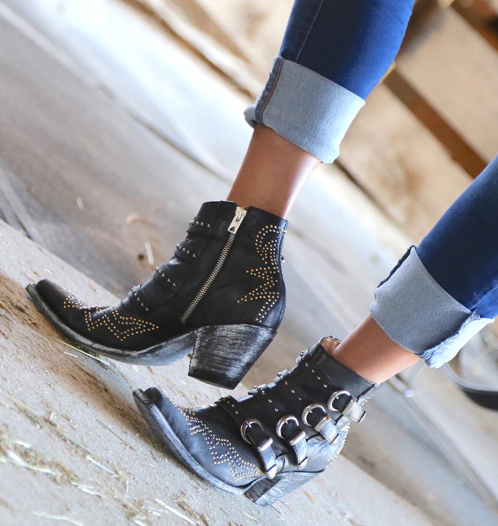 Old Gringo Roxy Black Boots BL2794-1 Zipper