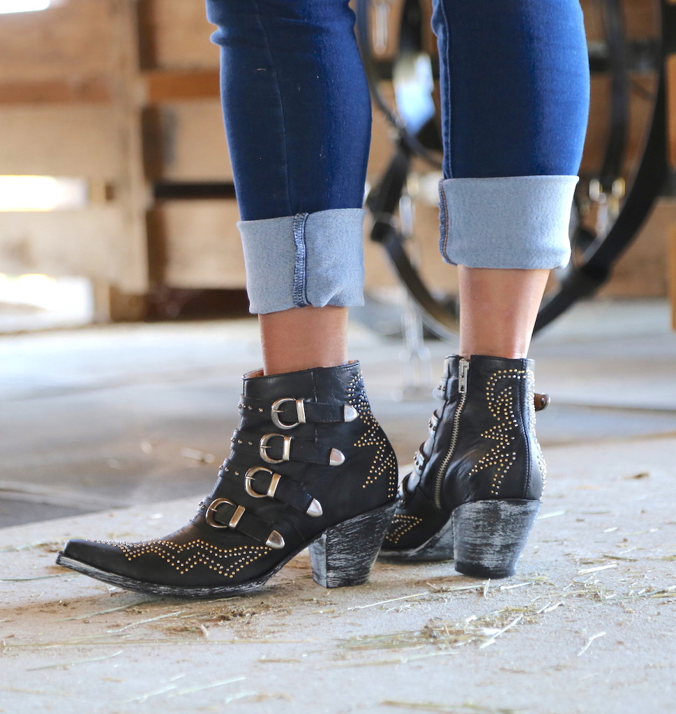 Old Gringo Roxy Black Boots BL2794-1 Heel