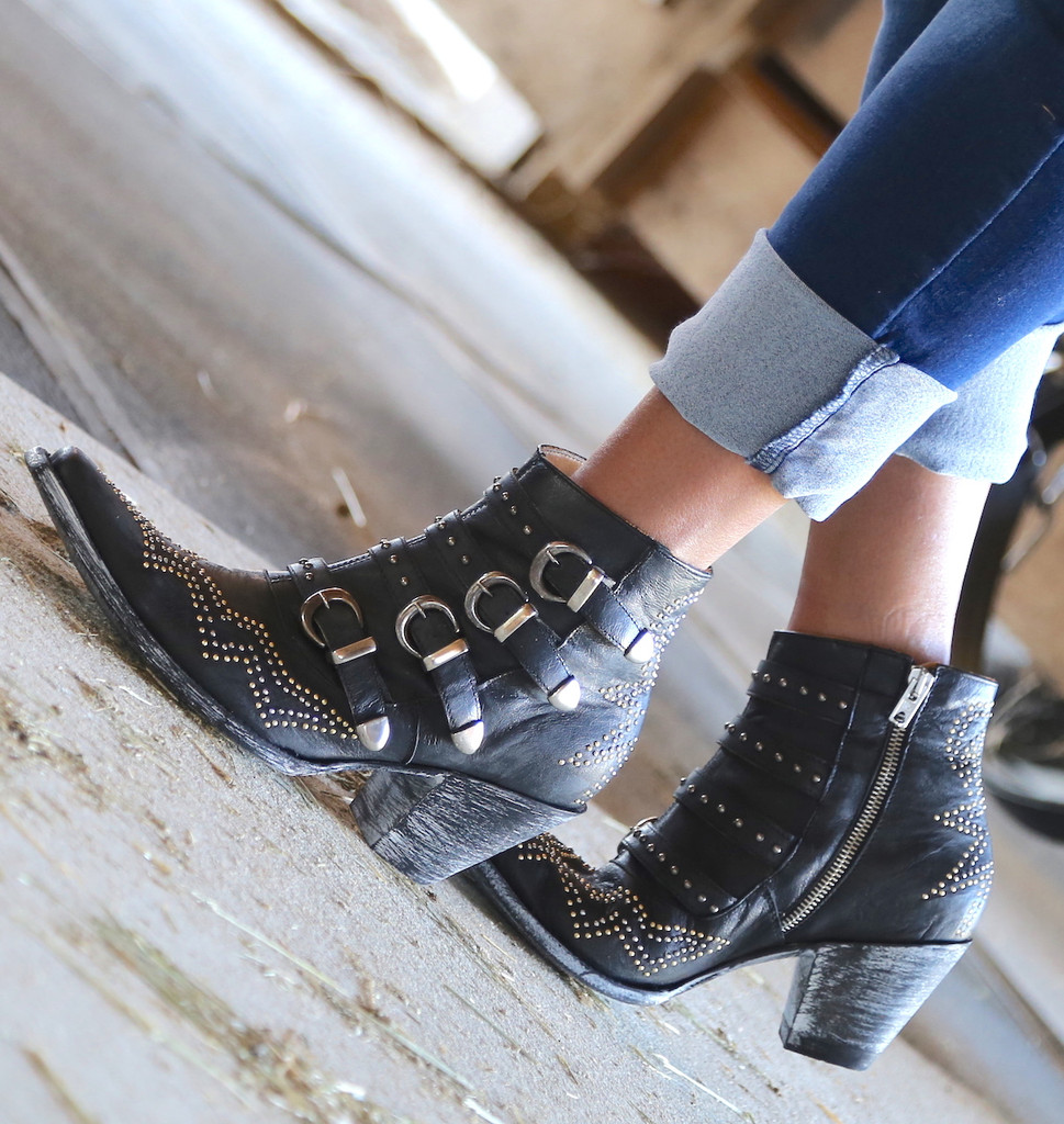Old Gringo Roxy Black Boots BL2794-1 Buckle