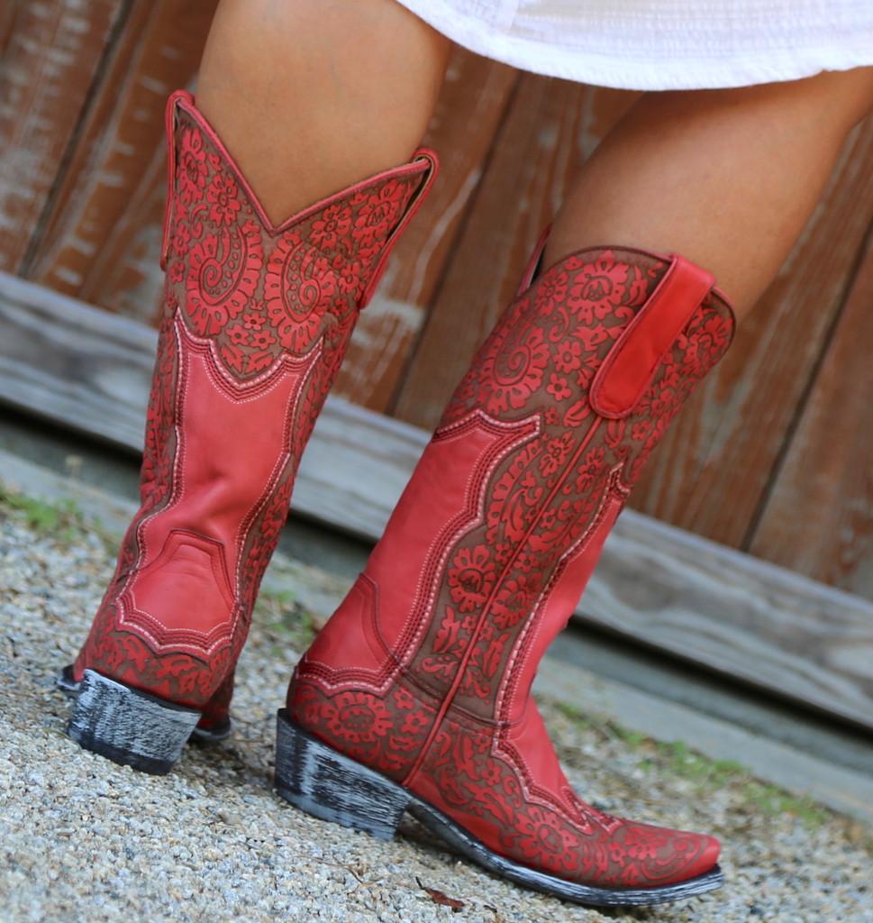 Old Gringo Rosita Pink Boots L2831-1 Heel