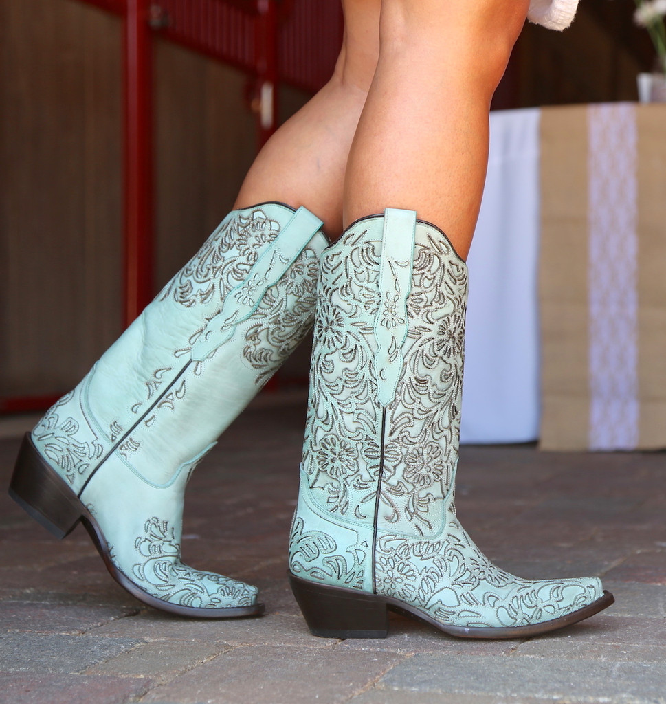Corral Turquoise Embroidery Boot G1387 Photo