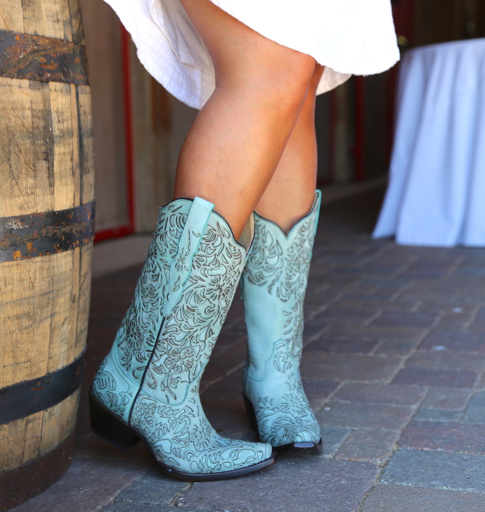 Corral Turquoise Embroidery Boot G1387 Image