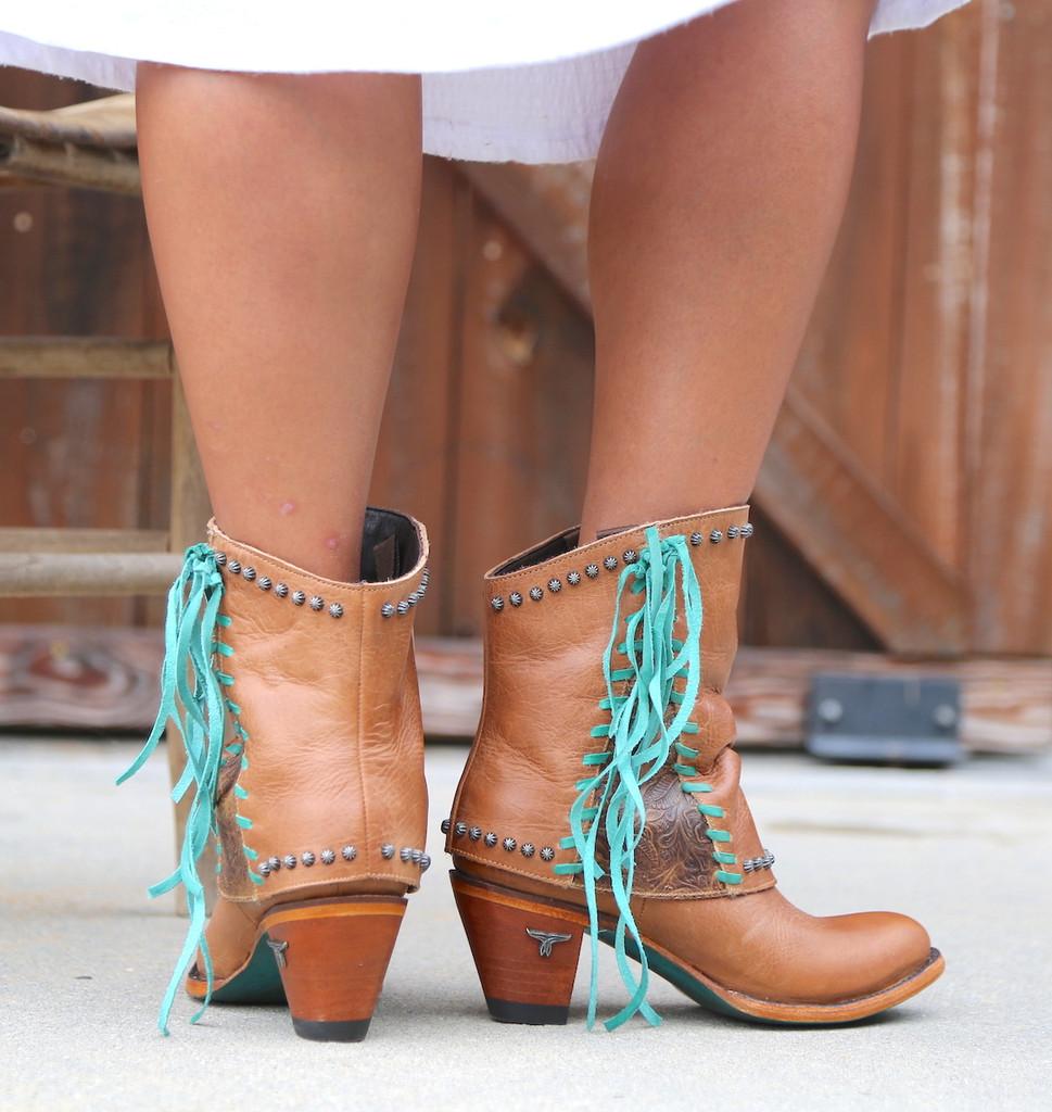 Lane Hoodie Shortie Tan Boots LB0361A Heel