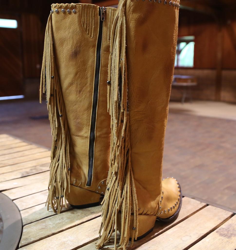 Double D by Old Gringo Spirit Quest Boots DDL012-1 Fringe