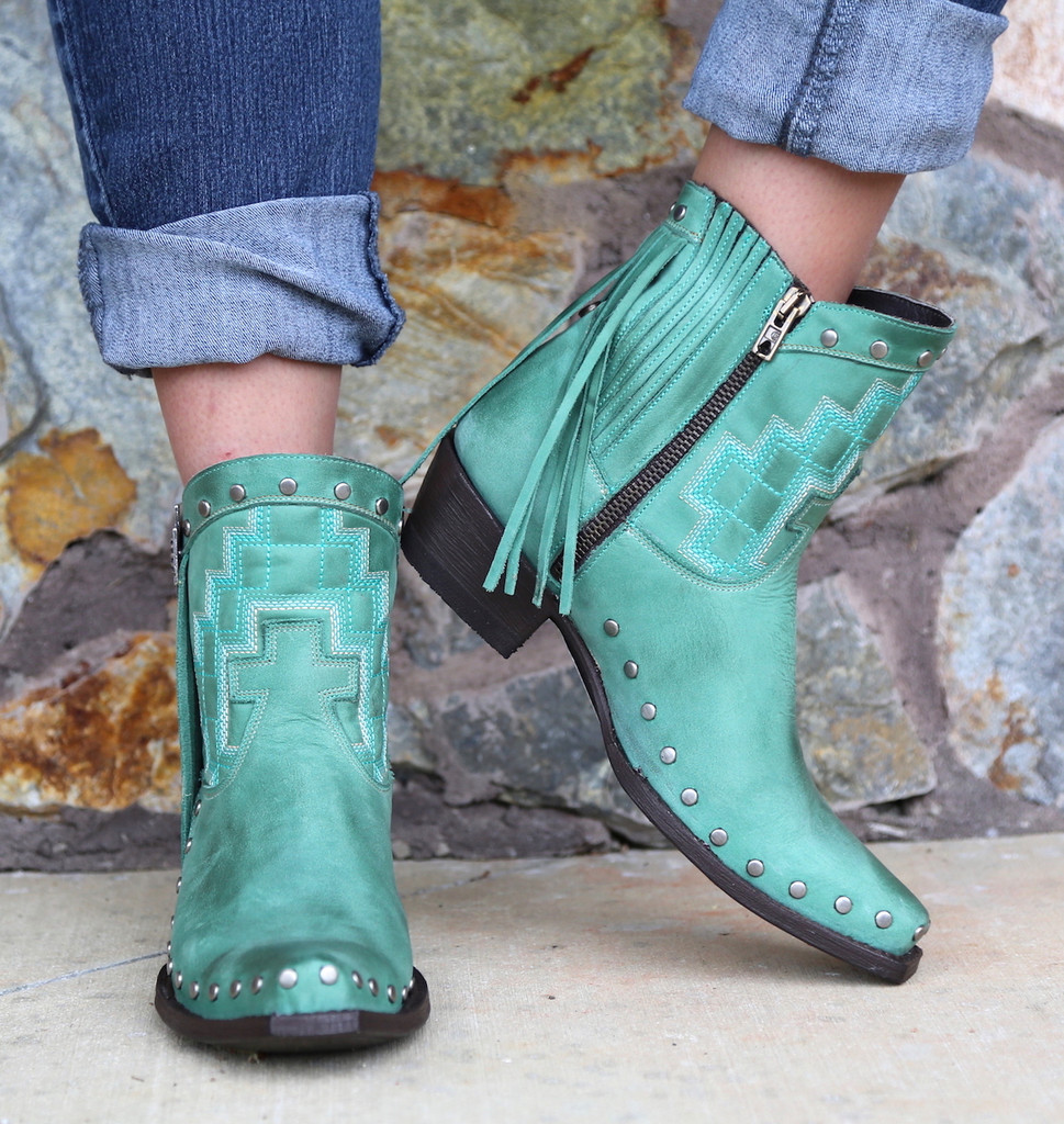 Double D by Old Gringo Coyote Moon Boots DDBL008-1 Zipper