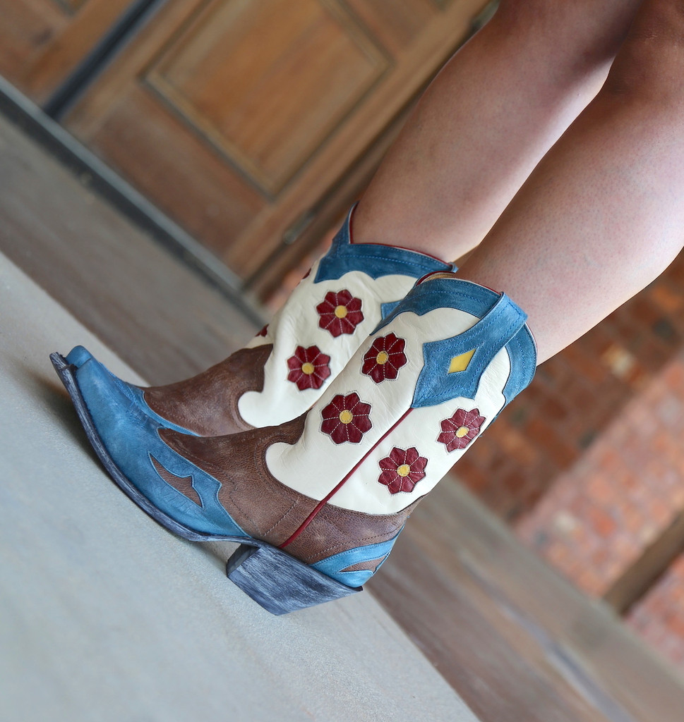 Yippee Ki Yay by Old Gringo Lovell Boots YL232-1 Flowers