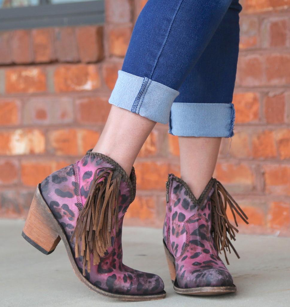 Liberty Black Chita Lipstick Boots LB712320 Fringe