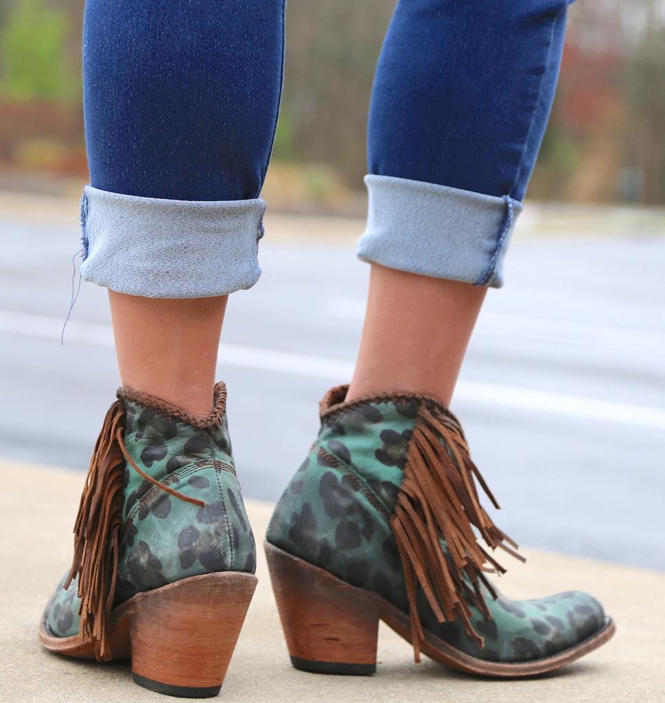 Liberty Black Chita Turquesa Boots LB712320 Heel