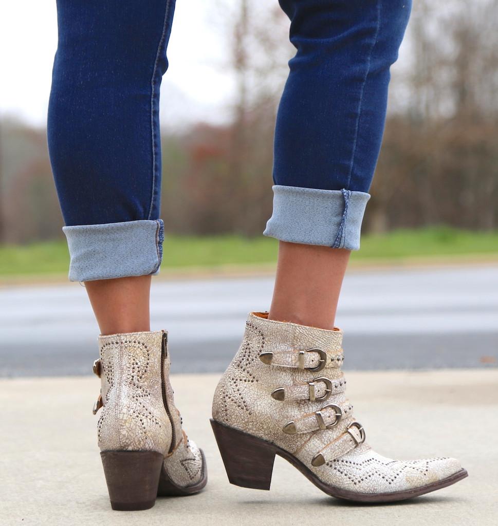 Old Gringo Roxy Milk Boots BL2794-7 Heel