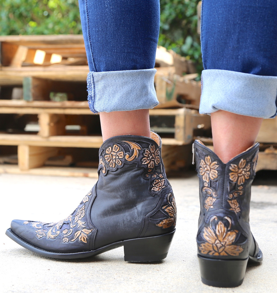 Old Gringo Aster Short Black Boots BL2950-1 Heel