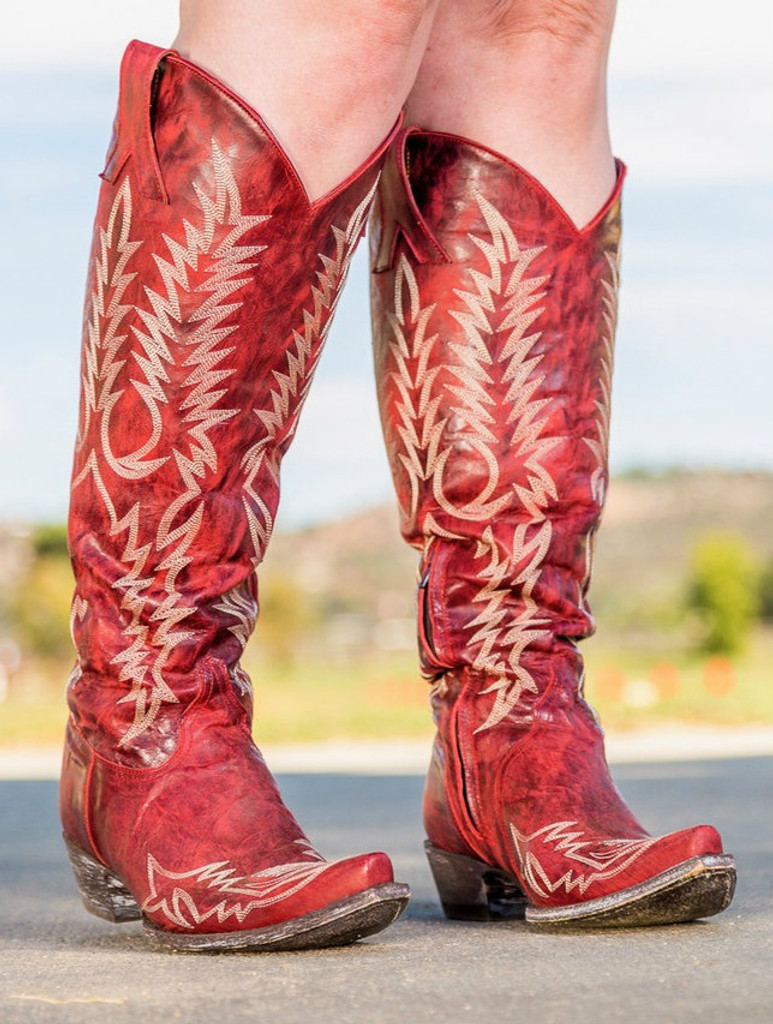 Old Gringo Mayra Red Relaxed Fit Boots L1213-1 Photo