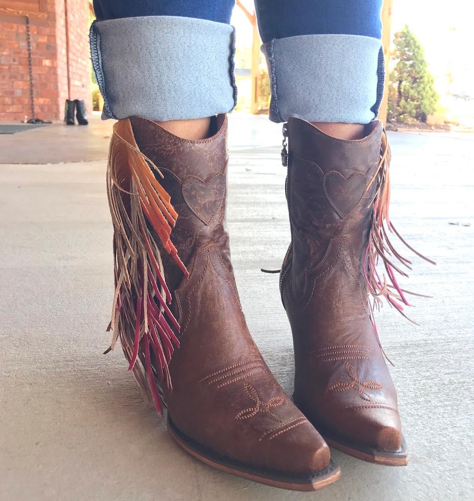 Junk Gypsy by Lane Spirit Animal Shortie Brown Boots JG0040A Toe