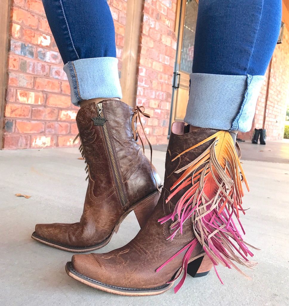 Junk Gypsy by Lane Spirit Animal Shortie Brown Boots JG0040A Picture