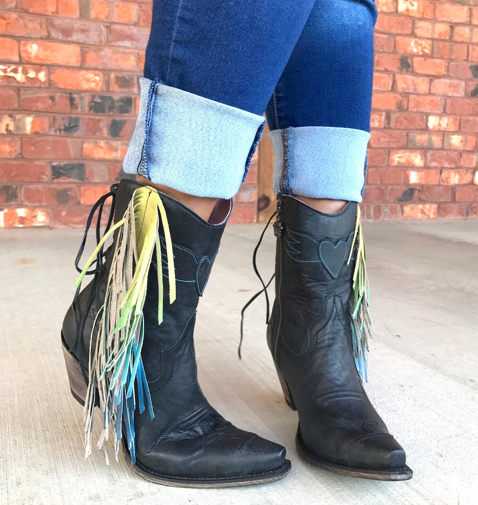Junk Gypsy by Lane Spirit Animal Shortie Black Boots JG0040B Image