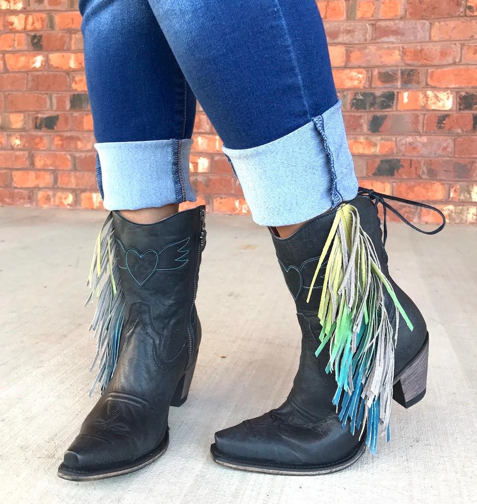 Junk Gypsy by Lane Spirit Animal Shortie Black Boots JG0040B Photo