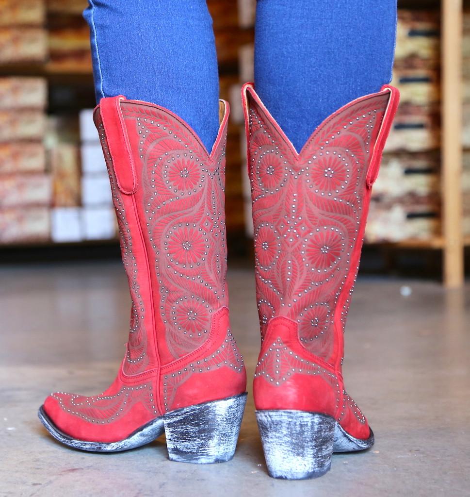 Old Gringo Valentine Red Boots L2774-2 Heel