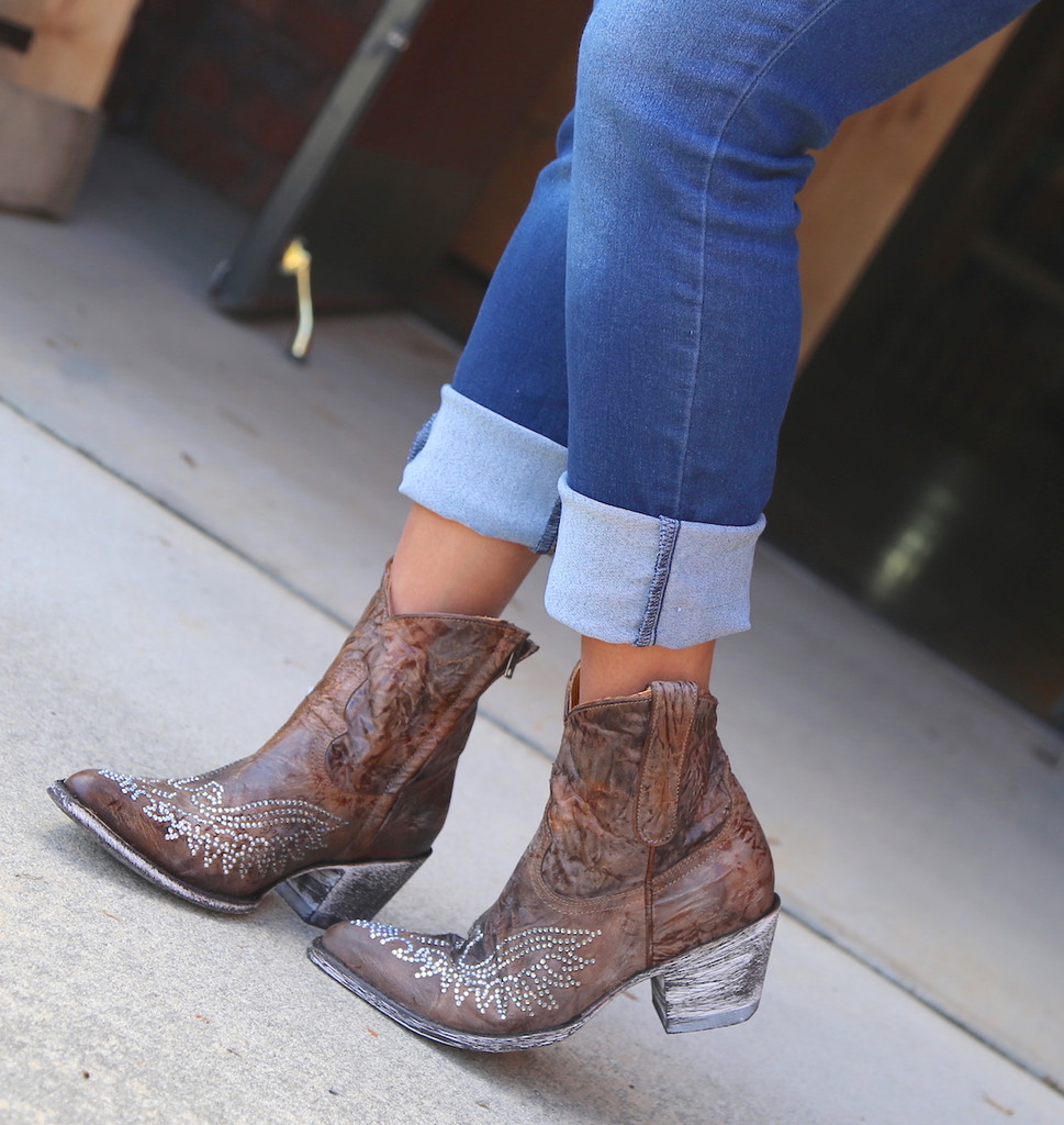 Old Gringo Eagle Crystal Zipper Boots L859-2 Photo