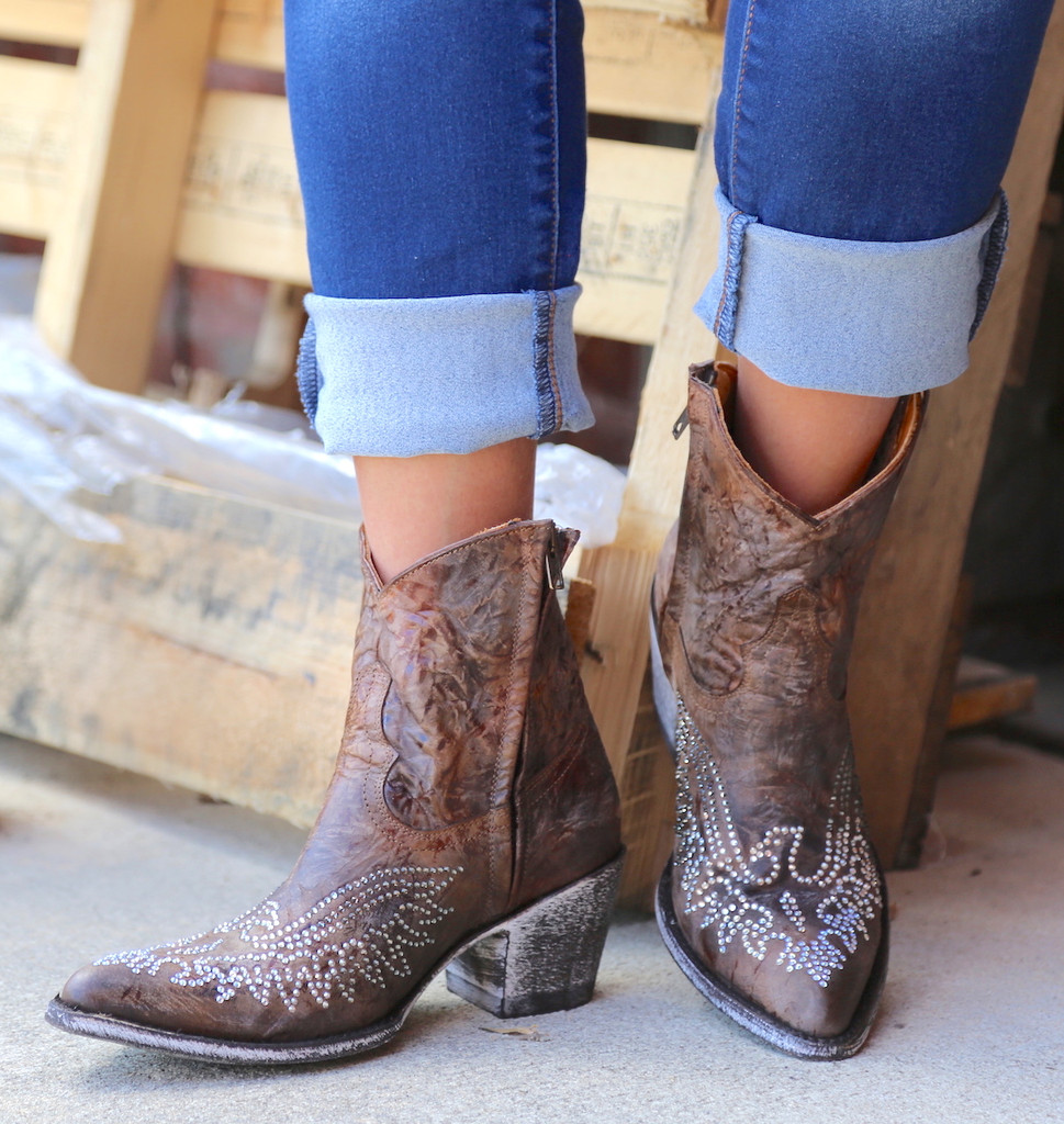 Old Gringo Eagle Crystal Zipper Boots L859-2 Picture