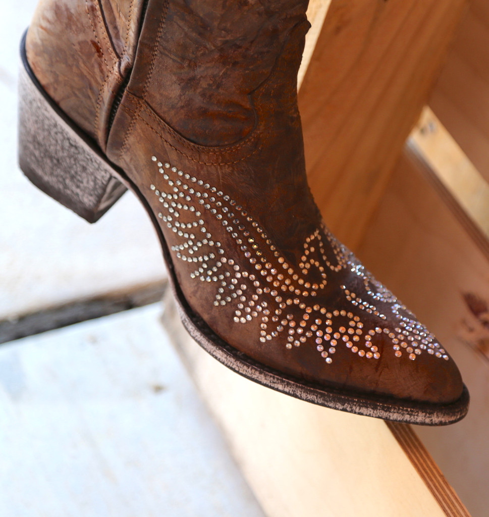 Old Gringo Eagle Crystal Zipper Boots L859-2 Detail
