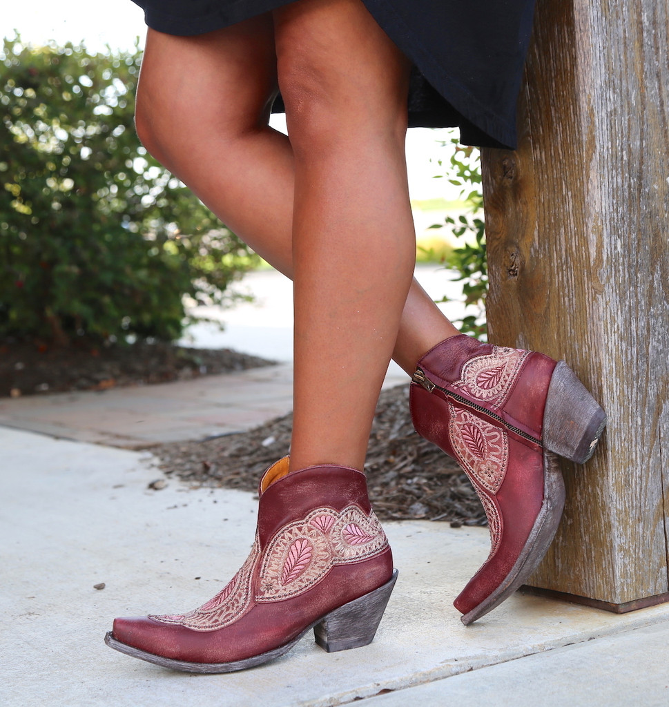 Old Gringo Bianca Wine Boots BL2978-1 Zipper