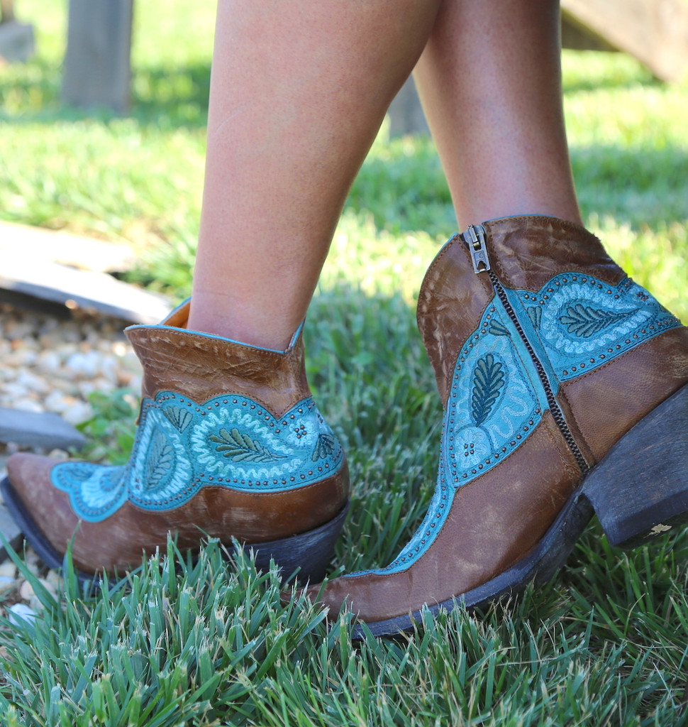 Old Gringo Bianca Brass Blue Boots BL2978-2 Picture