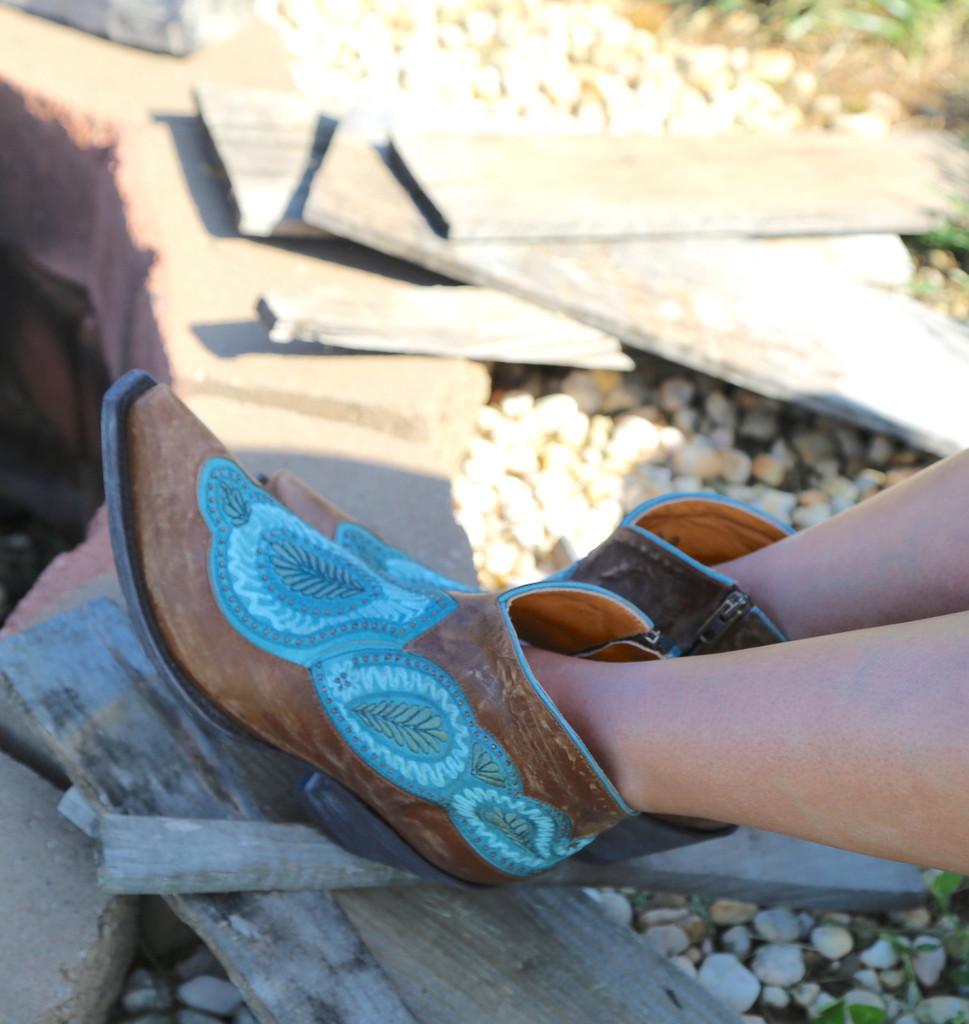 Old Gringo Bianca Brass Blue Boots BL2978-2 Toe