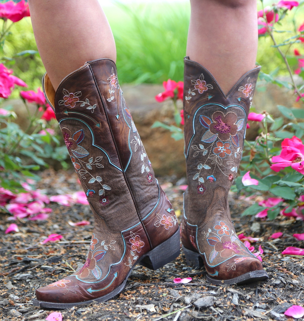Old Gringo Bonnie Pippin Chocolate Boots L696-12 Picture