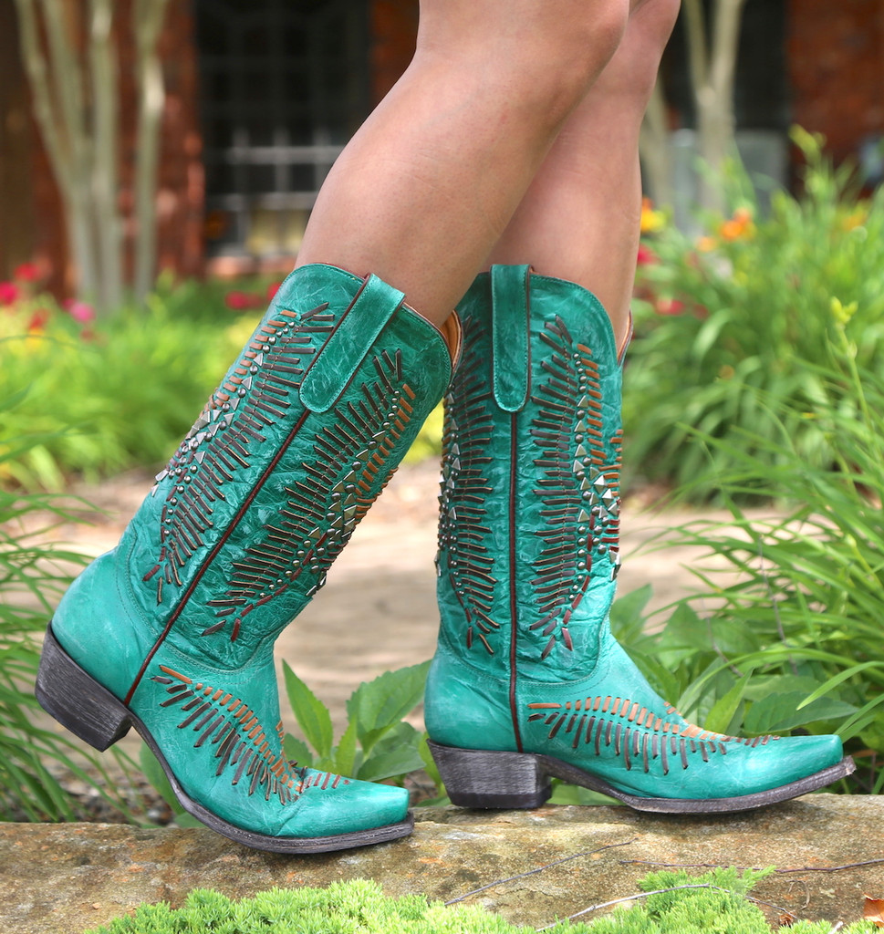 Old Gringo Harper Turquoise Boots L2971-3 Walk
