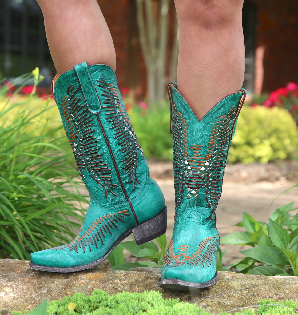 Old Gringo Harper Turquoise Boots L2971-3 Picture