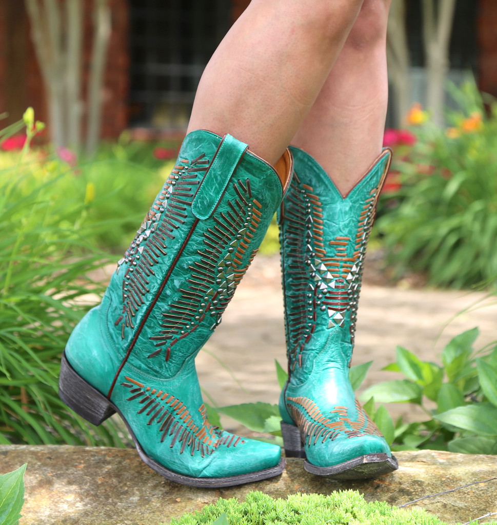 Old Gringo Harper Turquoise Boots L2971-3 Toe