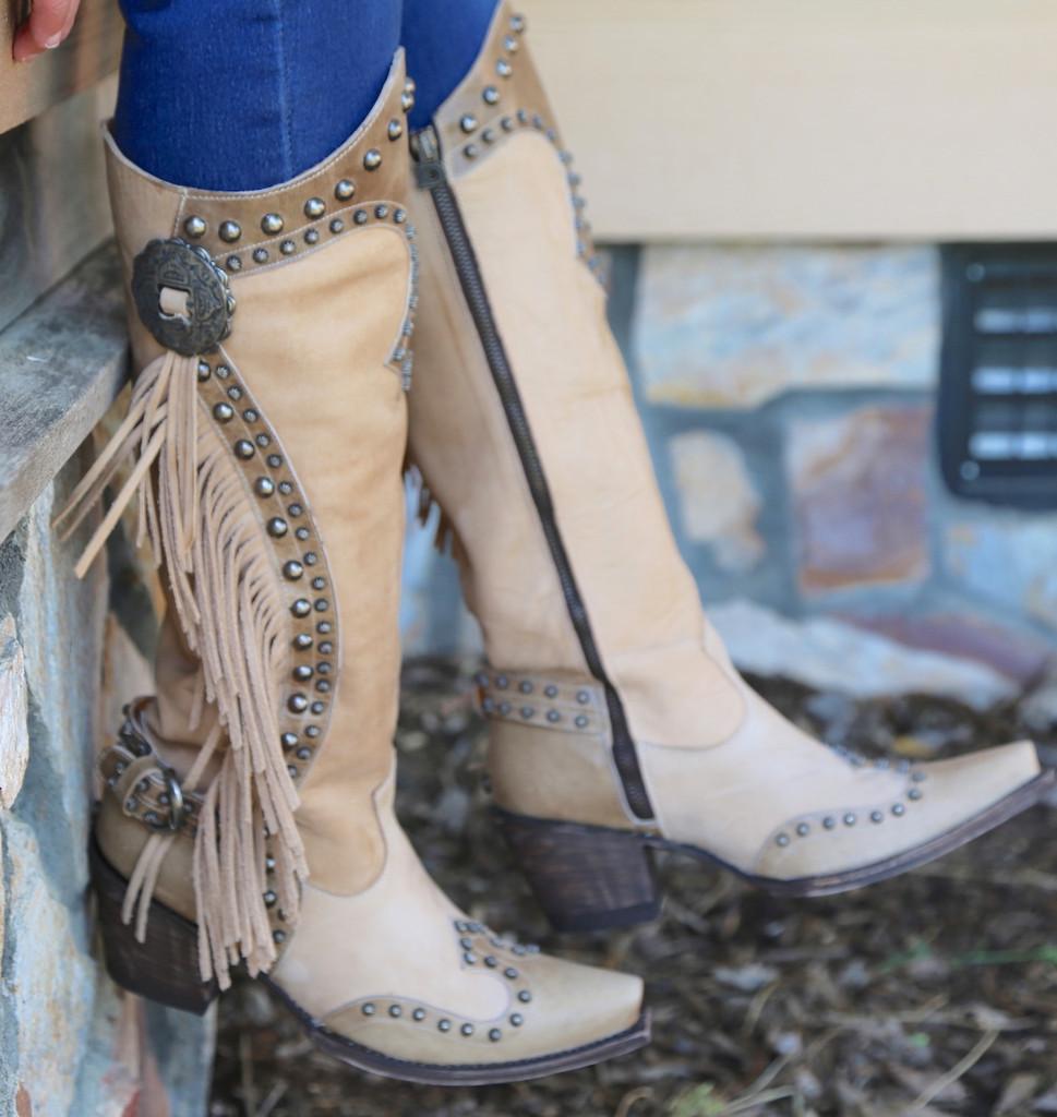 Double D by Old Gringo Rusty Ravine Bone Boots DDL017-3 Zipper