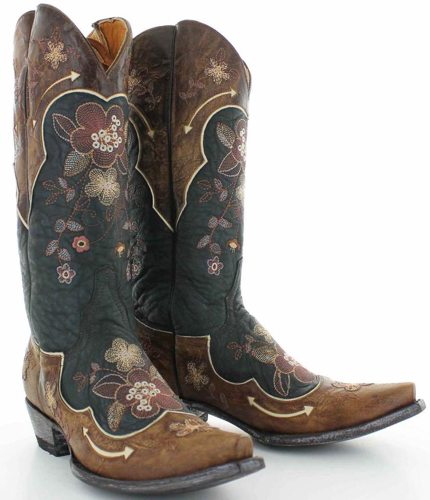 Old Gringo Bonnie Black Bone Boots L696-10 Picture