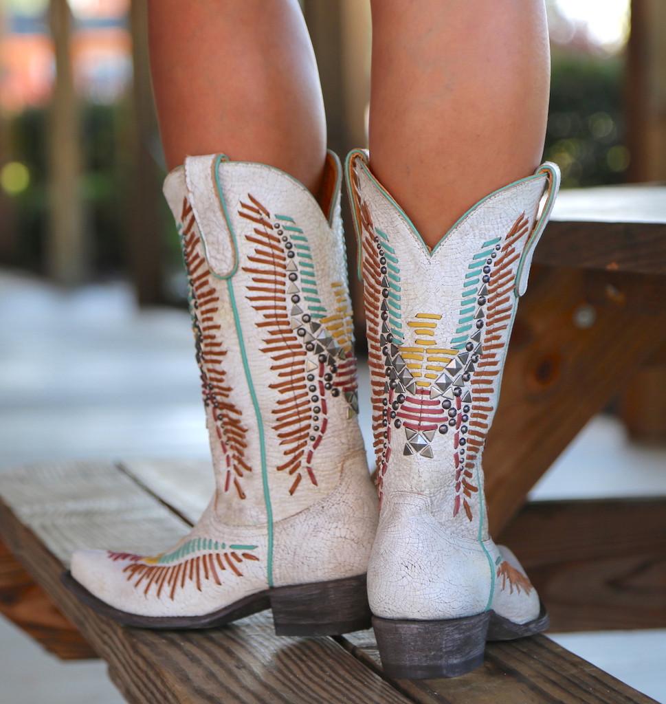 Old Gringo Harper Milk Boots L2971-2 Heel