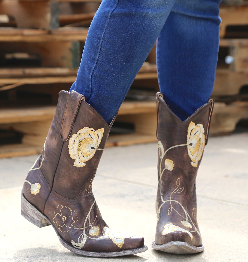Old Gringo Marsha Chocolate Gold Boots L427-45 Image