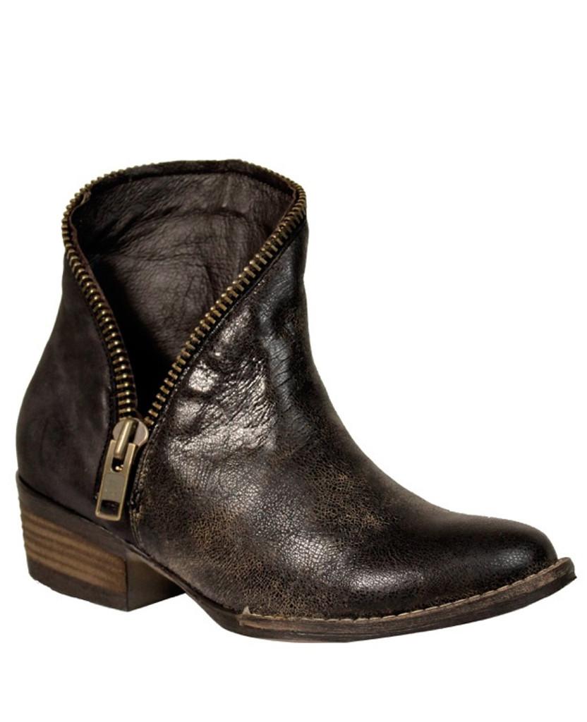 Corral Black Zipper J Toe Ankle Boot E1224 Picture