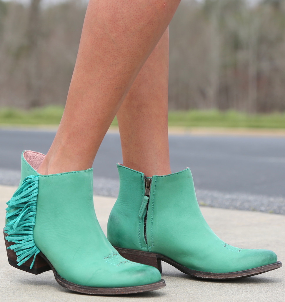 Miss Macie On The Fringe Turquoise Boots U7001-02 Photo