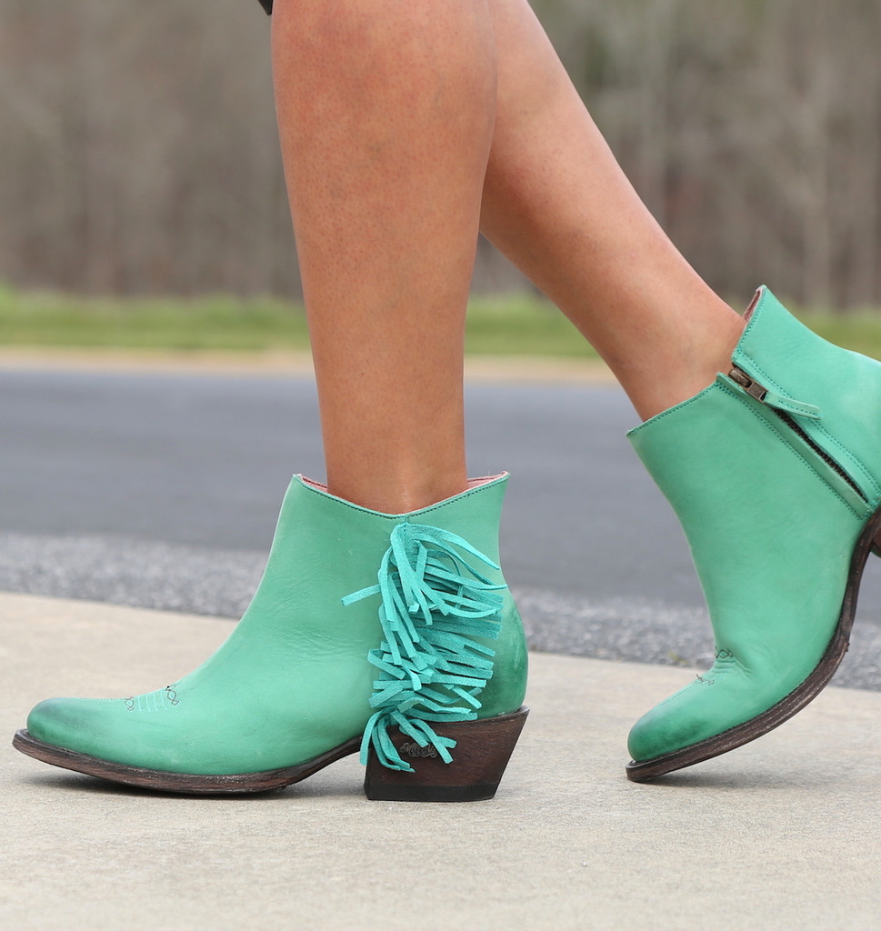 Miss Macie On The Fringe Turquoise Boots U7001-02 Walk