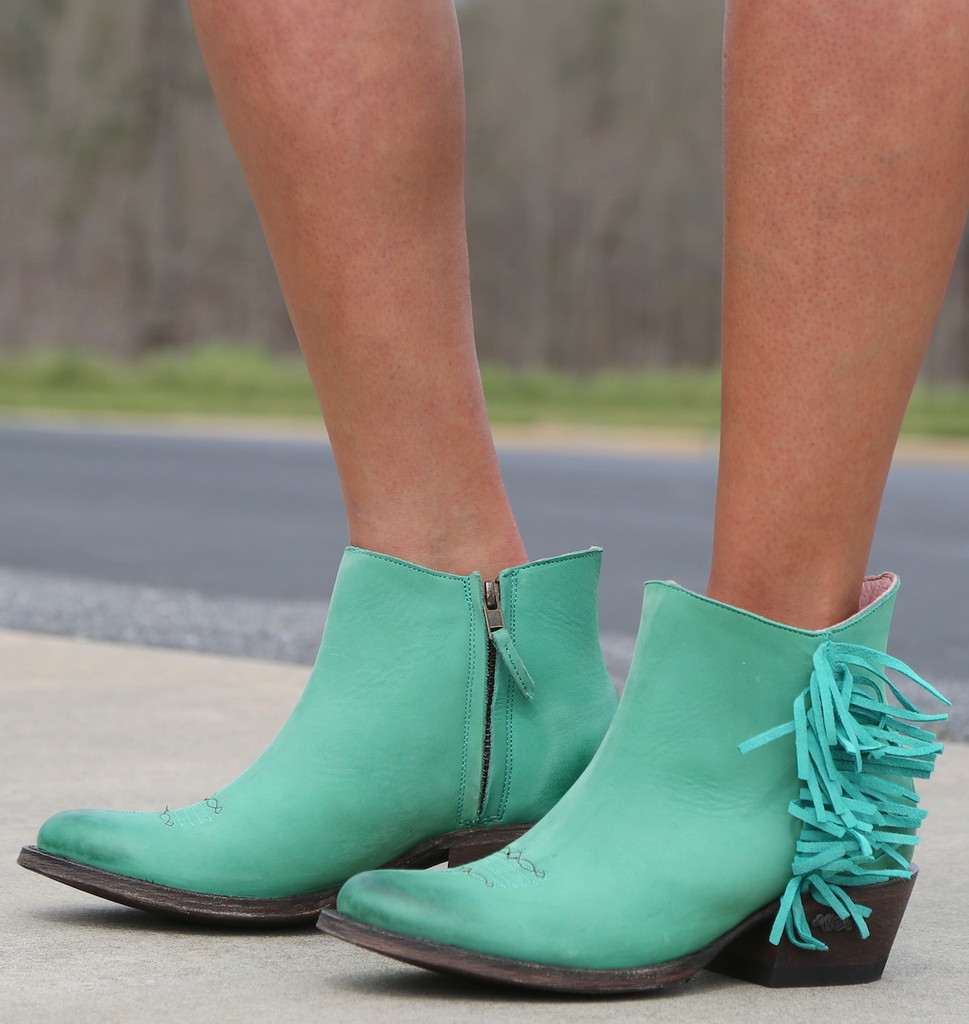 Miss Macie On The Fringe Turquoise Boots U7001-02 Image