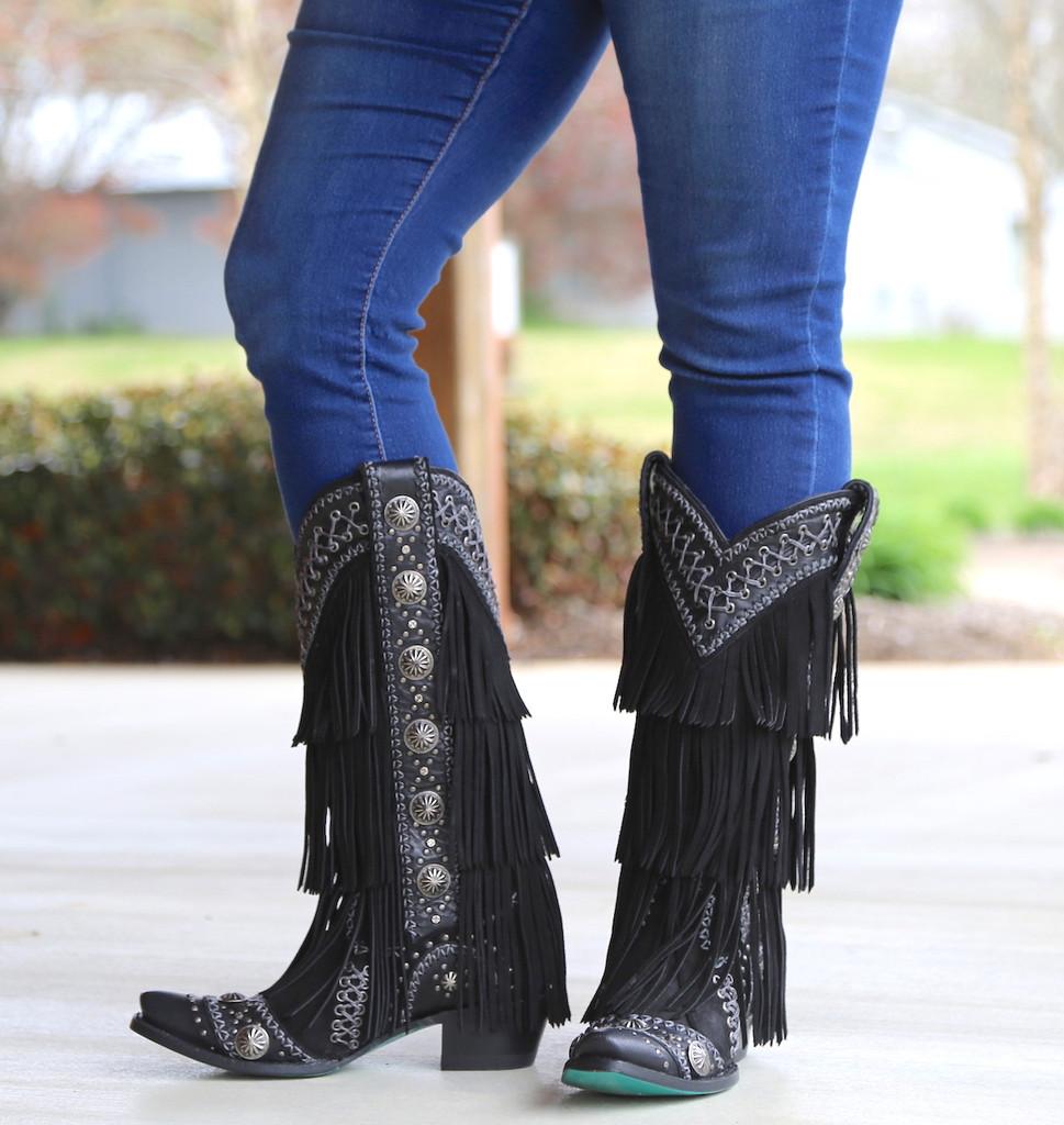 Lane Wind Walker Black Boots LB0378B Image