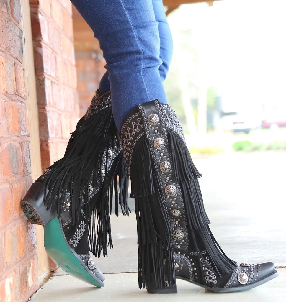 Lane Wind Walker Black Boots LB0378B Heel