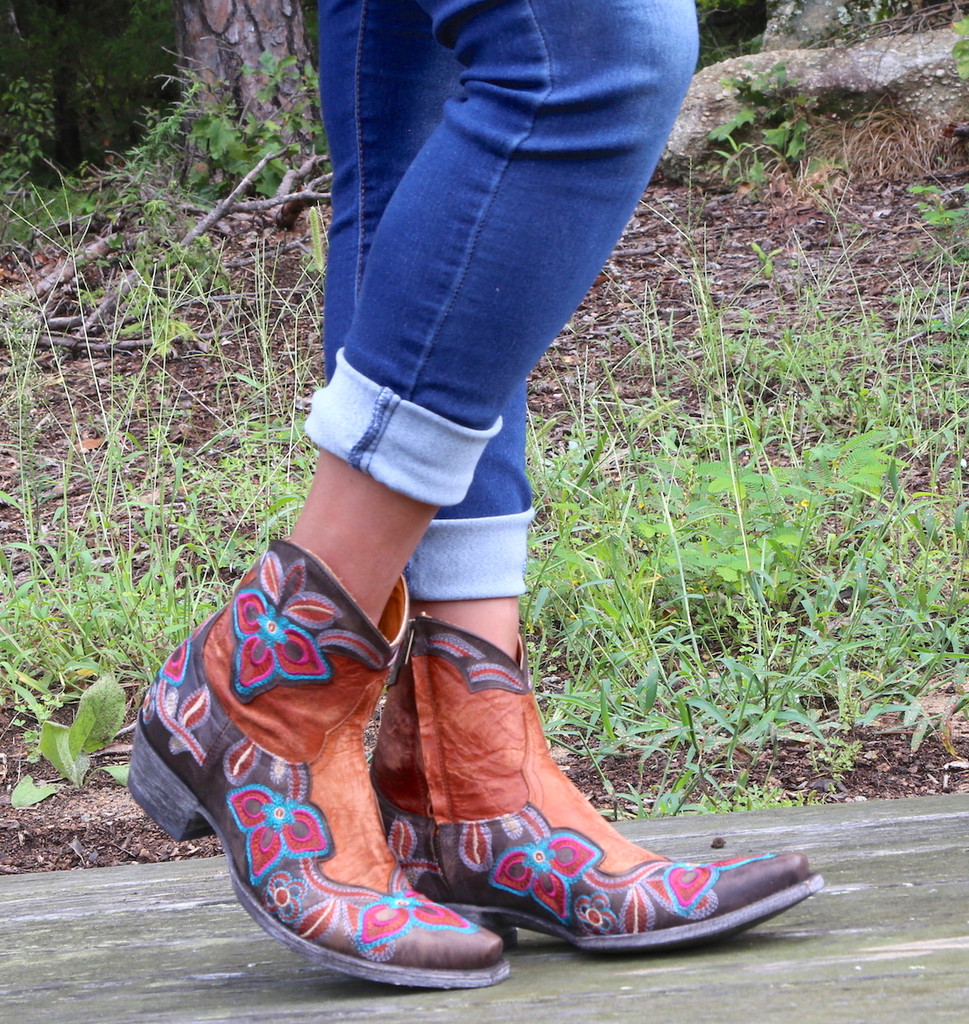Old Gringo Marrione Zipper Mango Chocolate Boots L1036-8 Photo