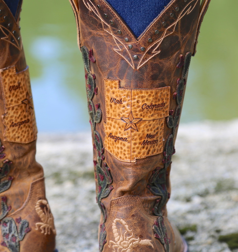Old Gringo Route 66 Saddle Boots L3056-2 Detail