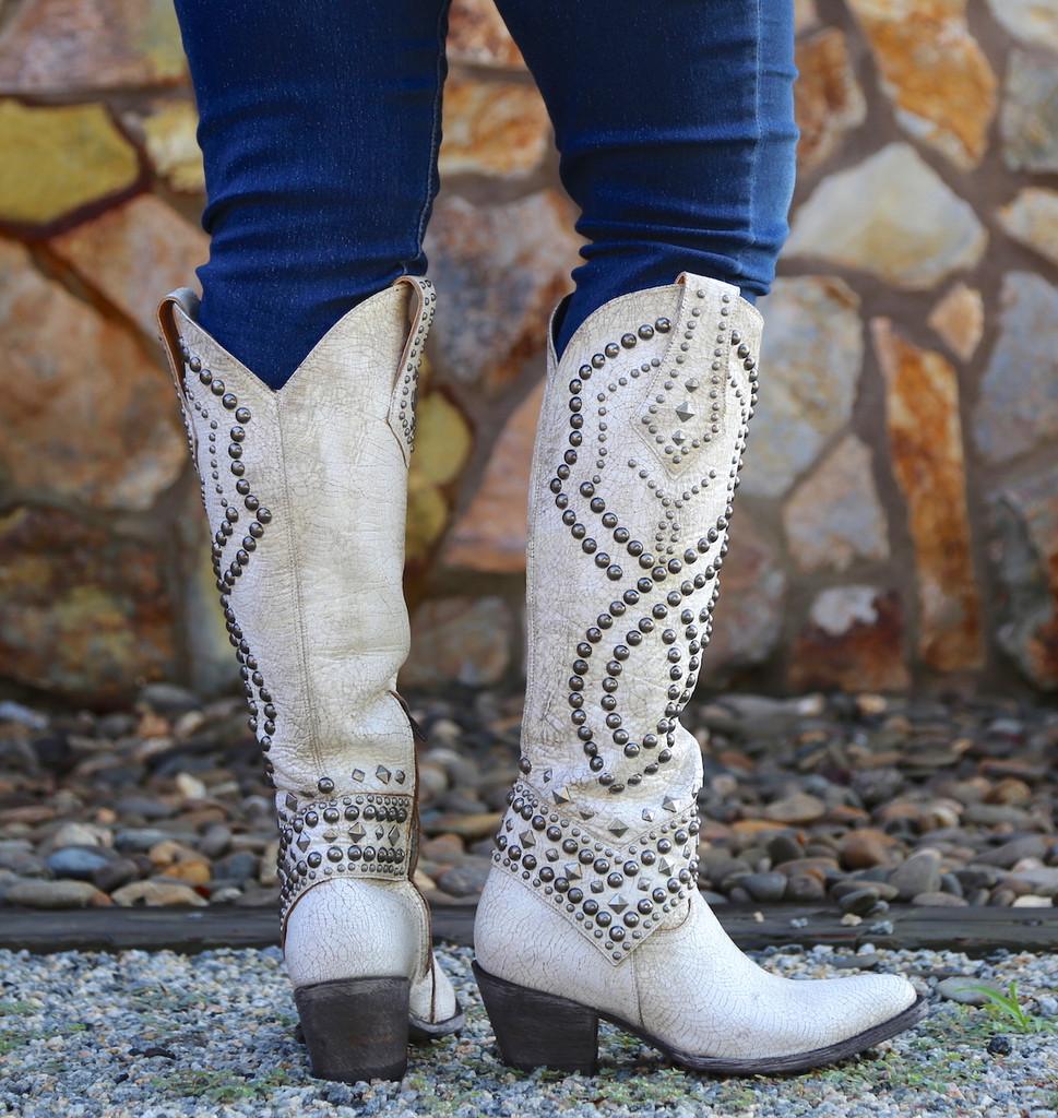 Old Gringo Belinda Milk Boots L903-32 Heel