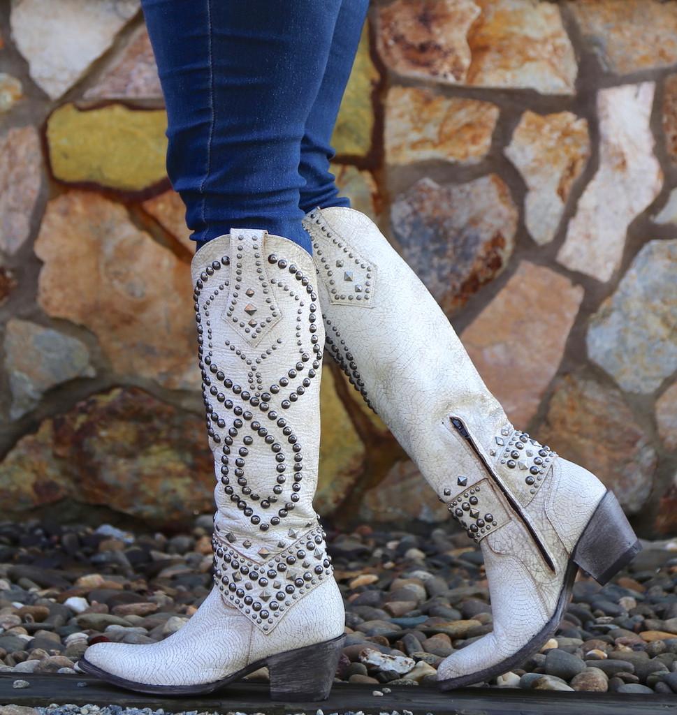 Old Gringo Belinda Milk Boots L903-32 Zipper