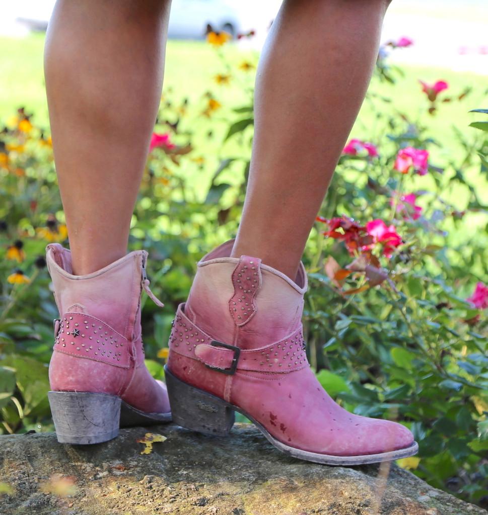 Miss Macie Fine-N-Dandy Pink Boots U8000-03 Heel
