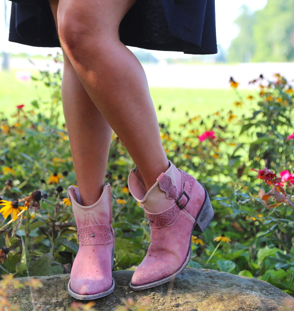 Miss Macie Fine-N-Dandy Pink Boots U8000-03 Toe