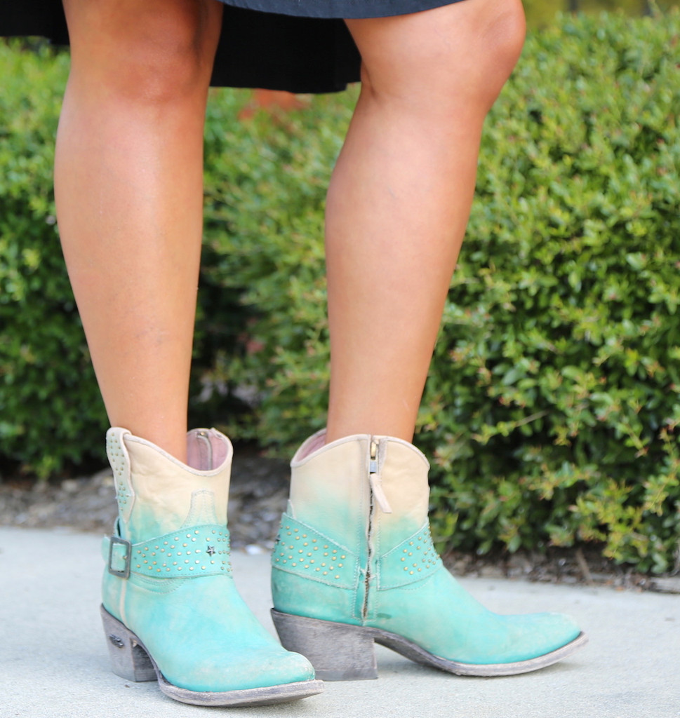 Miss Macie Fine-N-Dandy Turquoise Boots U8000-02 Zipper
