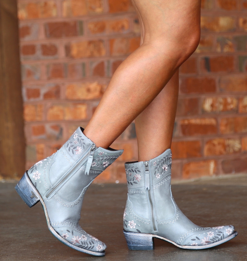 Lane Landrum Gardens Grey Boots LB0387B Side