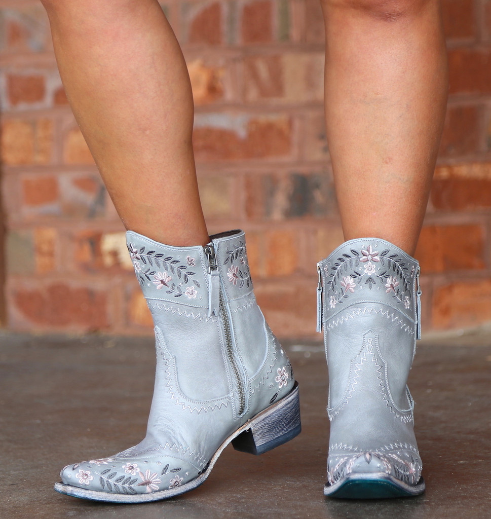 Lane Landrum Gardens Grey Boots LB0387B Zipper